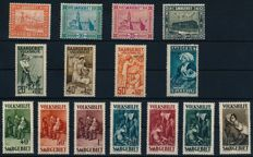 Saargebiet - 1920-1935 collection on album pages with complete Volkshilfe sets