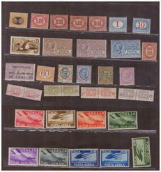 Kingdom of Italy - selection of stamps, ordinary mail and services, among which parcel post, airmail, pneumatic mail and fees
