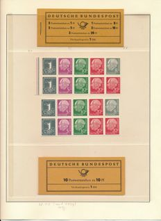 Federal Republic of Germany - 1955 - HeussCompression and stamp booklet H 10 with 183y
