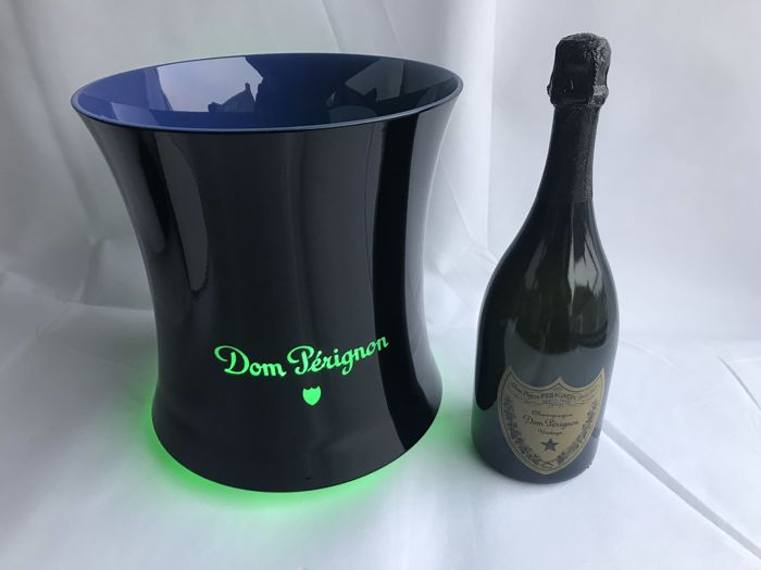 Dom Perignon Champagne Led Ice Bucket of magnum bottle