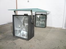 Atelier91 - Two industrial light boxes, to be used as decoration, mood lights or as a frame for a table.