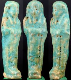Ancient Egyptian faience ushabti - ca. 9,5 cm - c. 3,74 inches