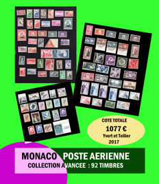 Monaco - Almost-complete Airmail collection - Yvert PA 1 to 96