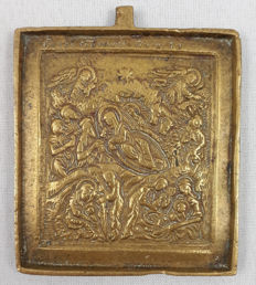 'The birth of Christ'- bronze travel icon - Christmas image