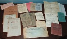 Lot of 18pc of British WWII Personal Military Related Documents