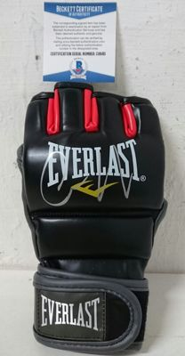 Everlast original black glove signed by Conor McGregor, MMA UFC Fight Glove, with Beckett certificate of authenticity