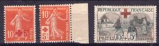France 1914/1927 - Red Cross stamps