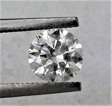 Diamond of  1.00 carat , E color , SI1 clarity , Big AIG certificate + Laser Inscription on Girdle , 3 x EX .