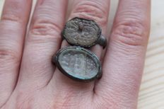Medieval gemma rings -  D18,22 mm (2)