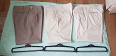 Brioni - Lot with three pairs of men's trousers