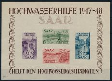 Saarland - 1948 - Flood Aid, block edition, Michel block 1