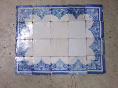 Old Portuguese tile panel (20) 17th/18th century