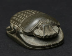 Ancient Egyptian hard stone Heart Scarab.   67 mm