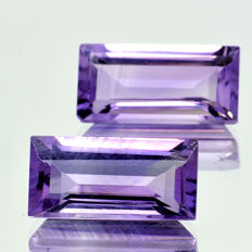 Two amethysts - 7.47 ct – No reserve price