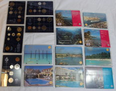 Aruba and Netherlands Antilles - year packs/ collections 1983 up to and including 1994 (14 different)