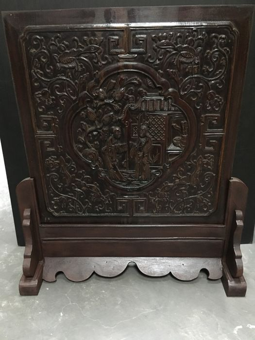 Wooden Table Screen - China - Late 20th century (ca 57.5 cm)