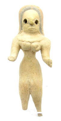 Indus Valley Terracotta Standing Female Idol  / Figurine  - 112mm