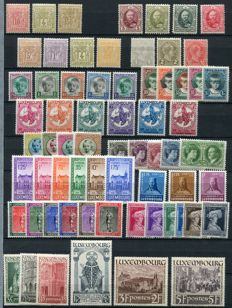 Luxemburg 1882/1938 -  Small collection beginning with classics