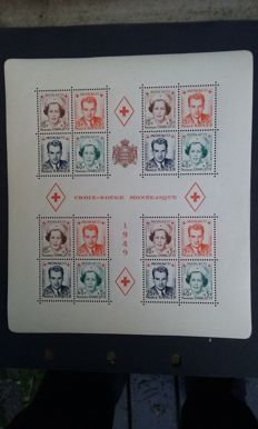 Monaco 1949 - Monagasque Red Cross - Yvert block sheet 3A and 3B