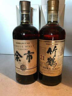 2 bottles - Yoichi 20 years old and Taketsuru 21 years old