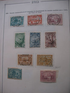 Portuguese Colonies Angola and Africa on old sheets - collection