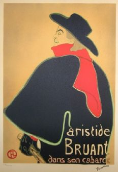 Henri de Toulouse-Lautrec (after) - Three lithographs : Bruant, Elles,  la passagere