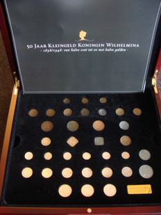 "The Netherlands - coin set ""50 years of small change, Wilhelmina 1898-1948"""