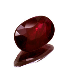 Red ruby - 1.17 ct