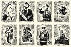Shepard Fairey (OBEY) - Damaged Stencil Series (set of eight}