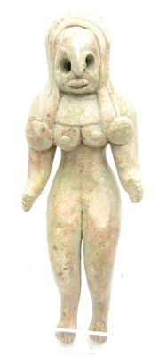 Indus Valley Terracotta Seated Female Fertility Idol  / Figurine  - 101 mm
