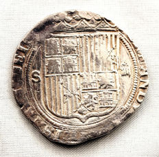 Spain - Catholic Monarchs (1474-1504) - 4 reales silver coin - Seville