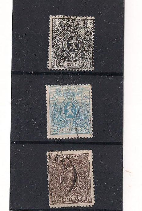 Belgium 1866/1869 – Selection between COB 22 and 36a withCOB 308/314.