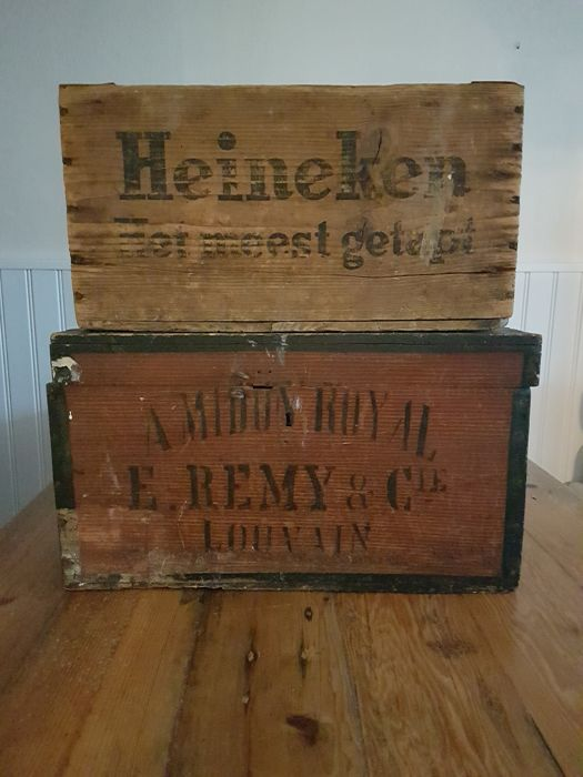 Heineken crate + Belgian box - 20th century