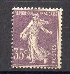 France 1906 – Semeuse 35c light purple – Yvert no. 136