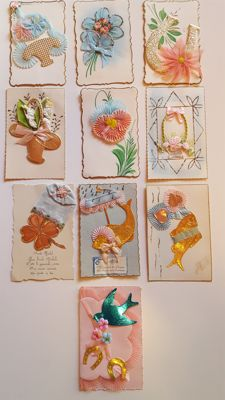 Lot with 132 fantasy cards, Easter, April 1 - 1903-1965.