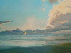 M.van Zanten (1972) - Sunset North Sea