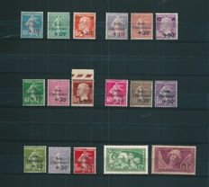 France 1927/1931 - Lot of 17 Semi Modern stamps 'Caisse d'Amortissement' - Yvert n°246/8, 249/51, 253/55, 256, 266/8, 269, 275/7