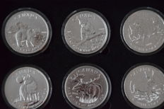 "Canada - 5 dollars 2011/2013 ""Canadian Wildlife"" (6 coins) in set"