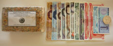 Venezuela - 12 varied banknotes + compressed banknotes + silver coin from the bicentennial of Andrés Bello