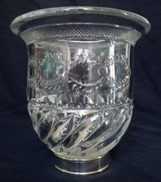 Baccarat crystal vase, Baccarat Museum pattern registered in 1916 catalog - France early 20th century production