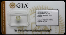 1.00 ct Certified Natural, Fancy Light Yellow Diamond  - NO RESERVE