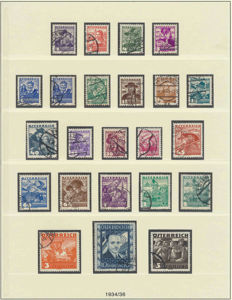 Austria 1922/1935 - Collection series