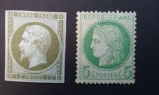 France 1860/1871 – Ceres  and Napoléon – Yvert 11, 53a