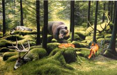 Josh Keyes - The Sleeping Woods
