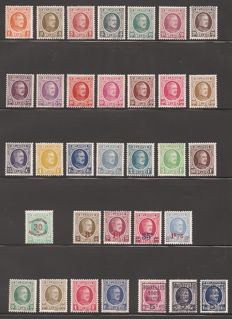 Belgium 1922/1927 - Series stamps of all types 'Houyoux' - OBP 190/10, OBP 237, OBP 245/48 and OBP 254/57