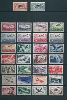 France 1927/1959 - Lot of 30 Airmail stamps - Yvert n°1/2 , 5/13 , 16/19 , 21/27 , 30/37