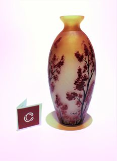 "Luciano Canal - Painted vase ""Old Forest"""