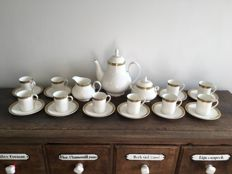Royal Doulton, Clarenden with Gold Leaf - Coffee set to serve 10
