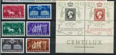 Luxemburg 1939/59 -  Collection semi-modern including some minisheets