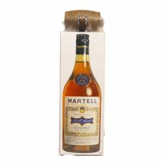 "Martell cognac three star ""4 crus"" blend OCB 1970s with miniature still sealed"